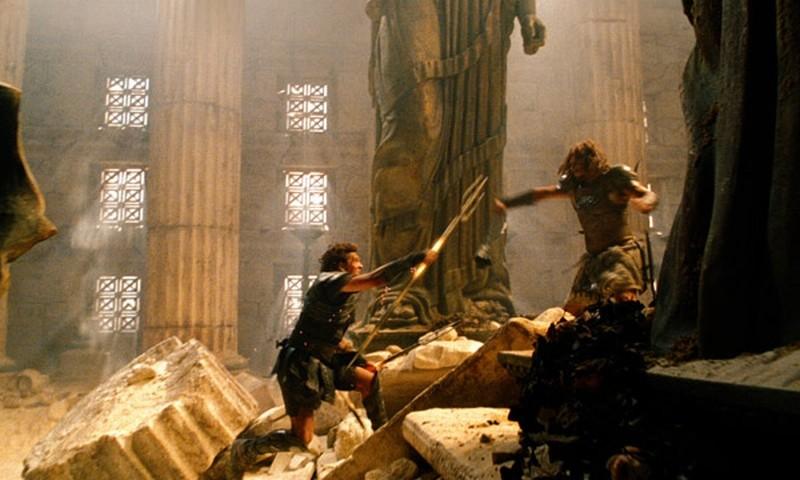 Wrath of the Titans: una scena del film