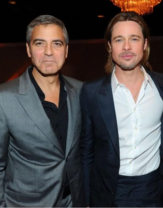 Academy Awards 2012: i candidati all'Oscar per il Miglior attore protagonista Brad Pitt e George Clooney