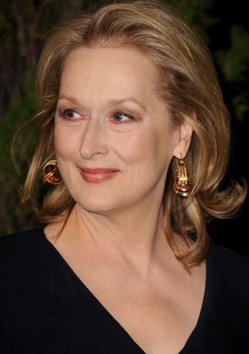 Academy Awards 2012: la candidata all'Oscar come Migliore attrice protagonista Meryl Streep