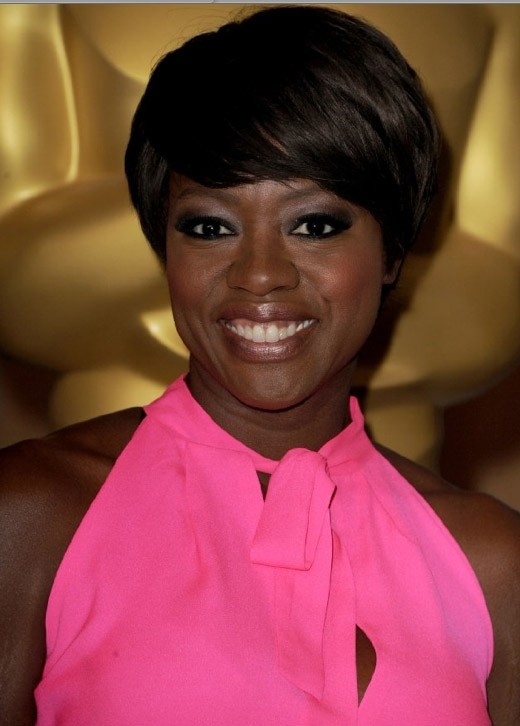 Academy Awards 2012: la candidata all'Oscar come Migliore attrice protagonista Viola Davis