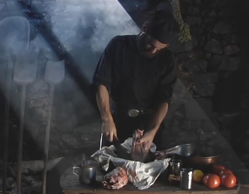 Metéora: Theo Alexander in una scena del film