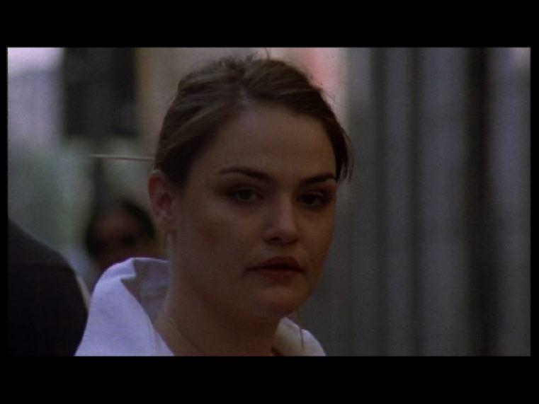 Un primo piano di Anita Bianchi nel cortometraggio Ultima immagine