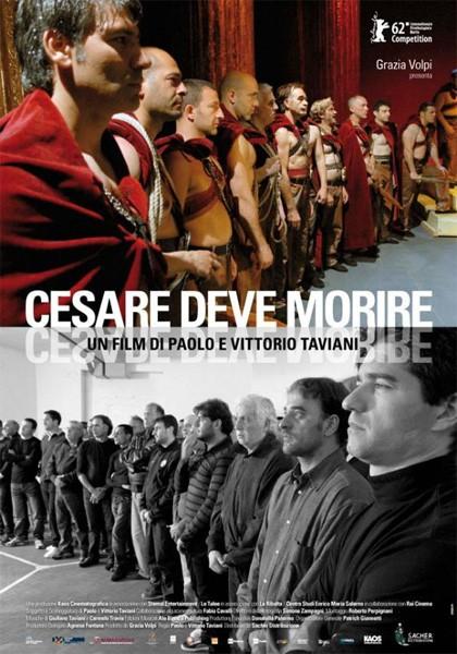 Cesare deve morire: la locandina italiana