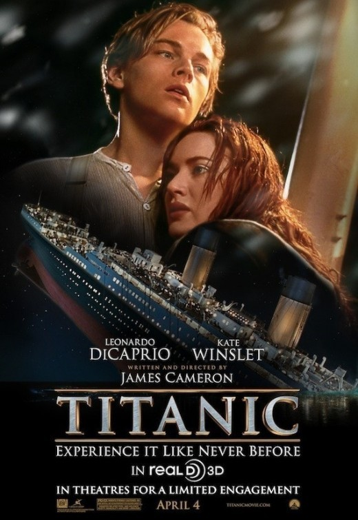 Titanic in 3D:nuovo poster USA