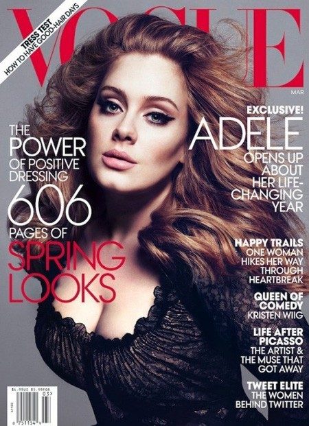 Adele in cover su Vogue (2012)