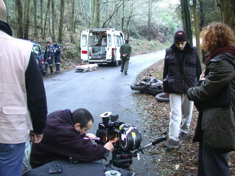 Deadline: una foto del set del film di Massimo Coglitore
