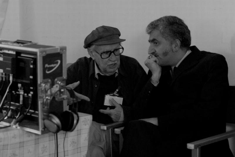 Cesare deve morire: Vittorio Taviani sul set del film a Rebibbia