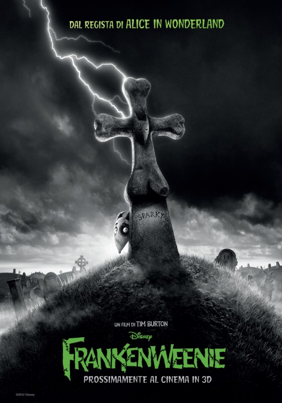 Frankenweenie: il teaser poster italiano del film