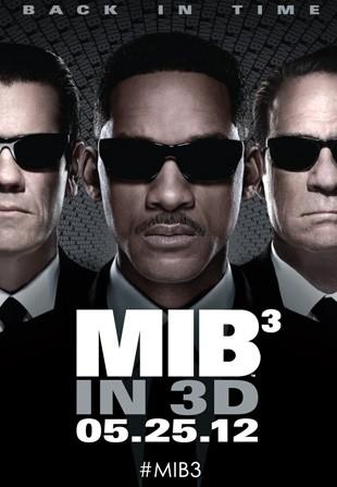Men in Black 3: ecco una nuova locandina col trio di protagonisti al completo