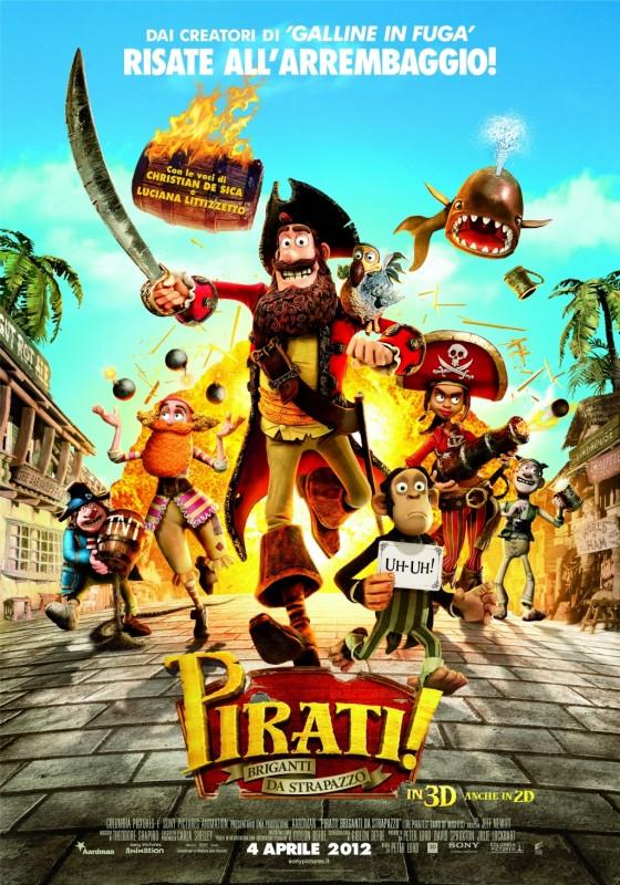 Pirati! Briganti da strapazzo: la locandina italiana
