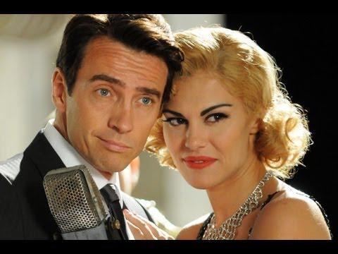 Alessio Boni e Bianca Guaccero in una divertente scena della miniserie di Rai Uno Walter Chiari Fino all'ultima risata