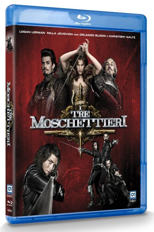 La copertina di I tre moschettieri in 3D (blu-ray)