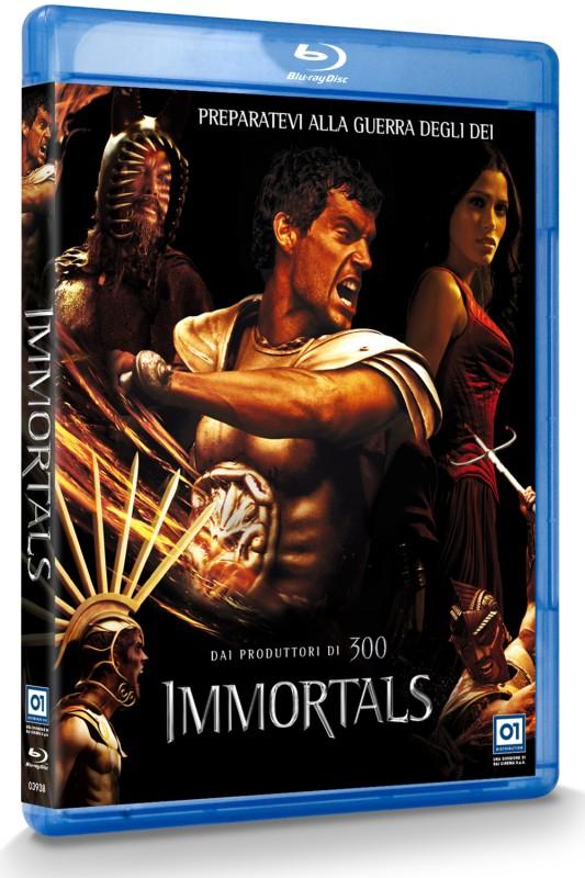 La copertina di Immortals 3D (blu-ray)