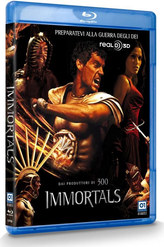 La copertina di Immortals 3D (Real 3D) (blu-ray)