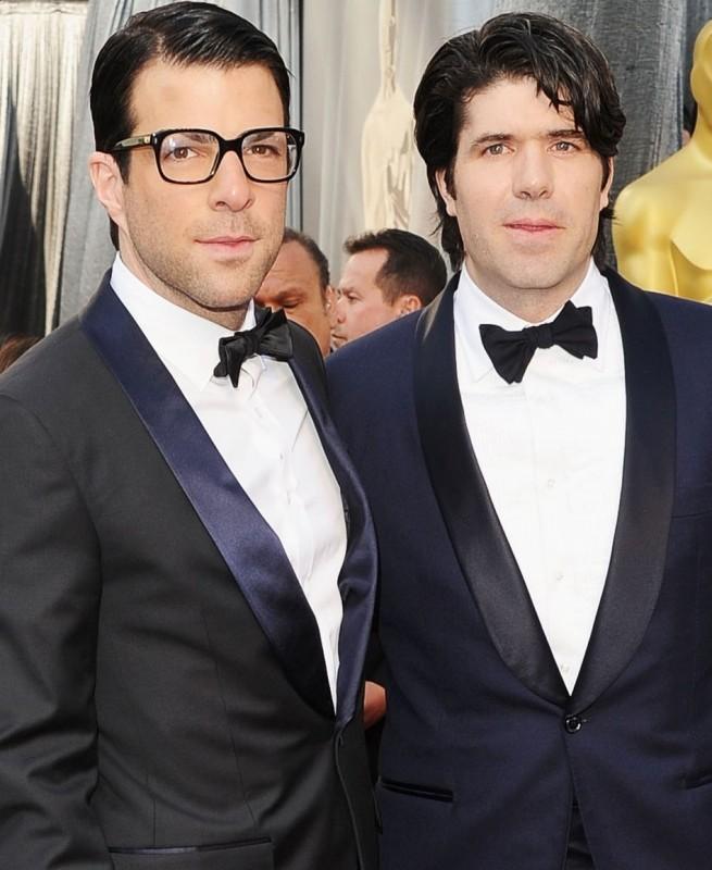 Oscar 2012: Zachary Quinto e J.C. Chandor sul red carpet