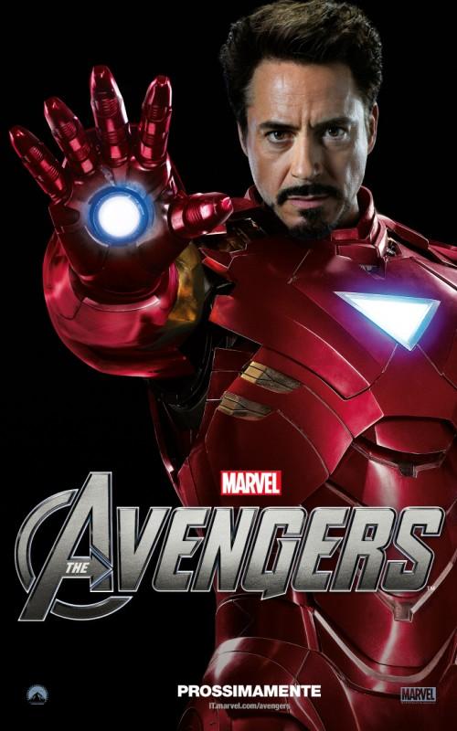 The Avengers: character poster italiano per l'Iron Man di Robert Downey Jr.