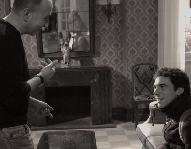 Elio Germano e Ferzan Ozpetek sul set del film Magnifica presenza