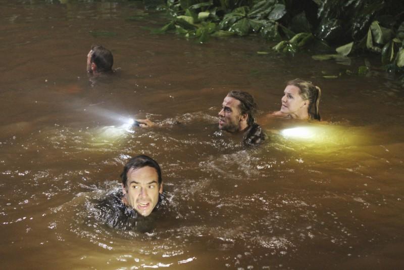 Joe Anderson nella serie tv The River con Eloise Mumford e Paul Blackthorne (episodio Marbeley)