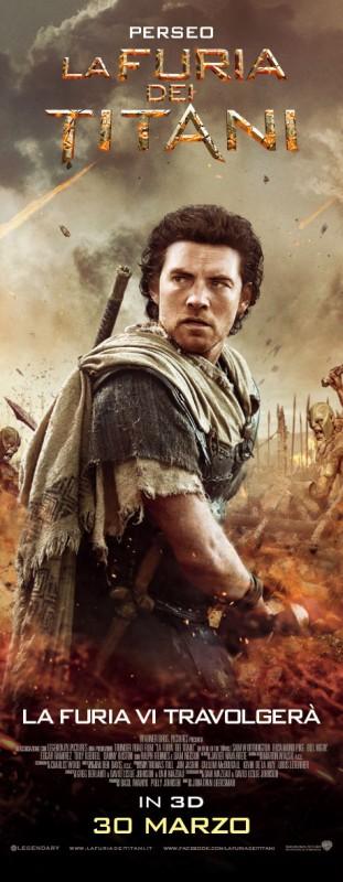 La furia dei titani: Sam Worthington nel character poster italiano di Perseo