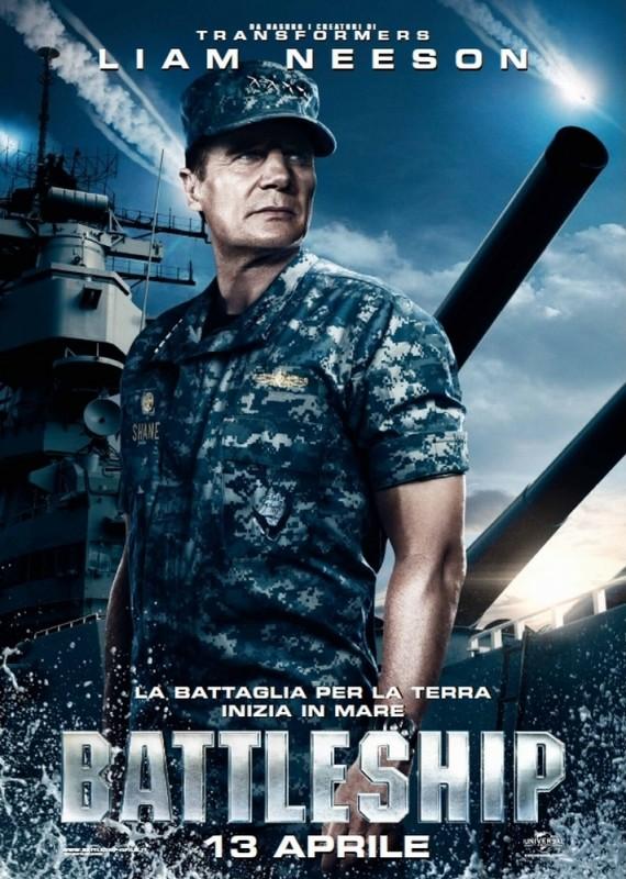 Battleship: il character poster del film con Liam Neeson, nei panni dell'ammiraglio Shane