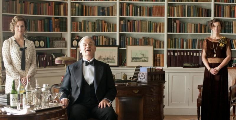 Bill Murray accoglie i prestigiosi ospiti nel suo studio insieme a Laura Linney in Hyde Park on the Hudson
