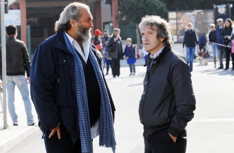 Buona giornata: Diego Abatantuono insieme al regista Carlo Vanzina sul set del film