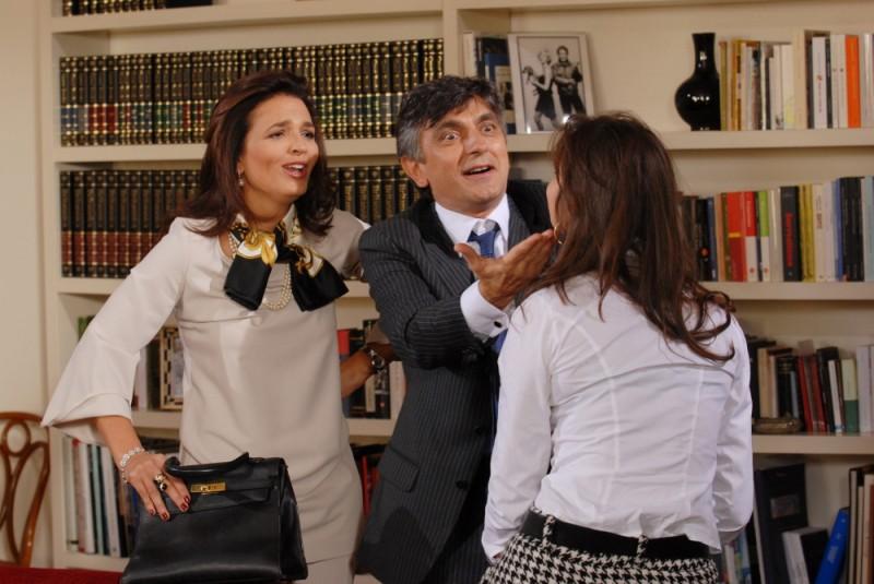 Buona giornata: Vincenzo Salemme insieme a Tosca d'Aquino in una scena del film
