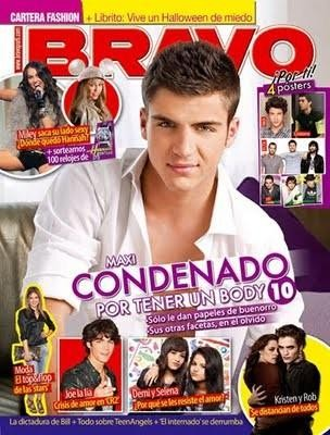 Maxi Iglesias sulla copertina di Bravo