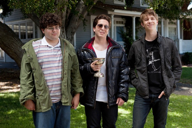 Project X: Oliver Cooper, Thomas Mann e Jonathan Daniel Brown in una sequenza