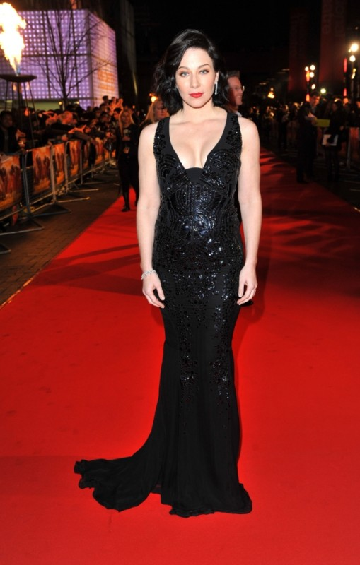 La bellissima Lynn Collins sul red carpet londinese durante la première di John Carter