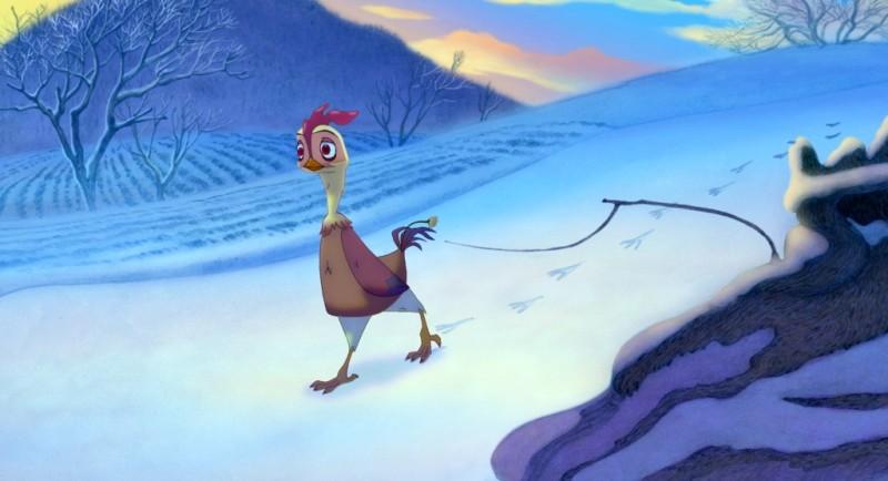 Leafie - La storia di un amore: la gallinella Leafie in un'immagine del film