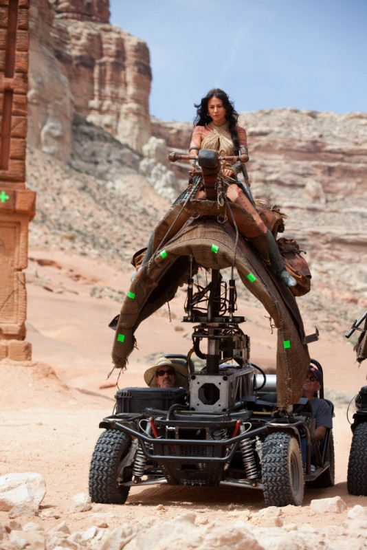 Lynn Collins sul set di John Carter
