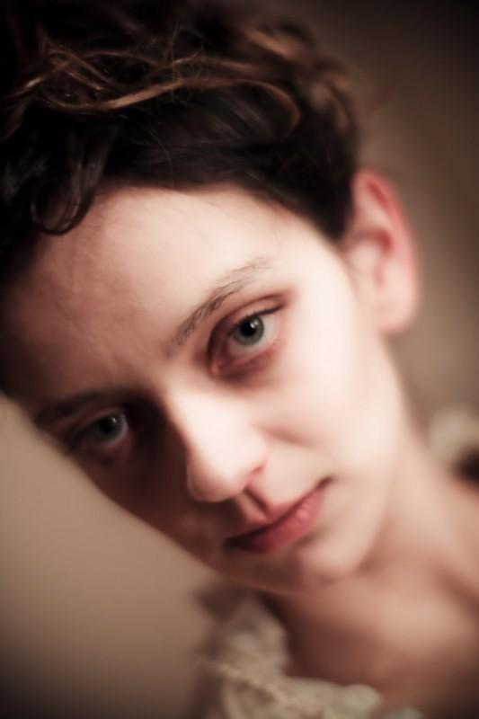 Una bella immagine di Diana Dell'Erba sul set di Rasputin