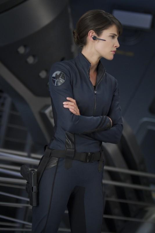 Cobie Smulders nei panni di Maria Hill in The Avengers