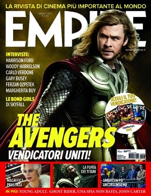La copertina di Empire dedicata a Thor, alias Chris Hemsworth