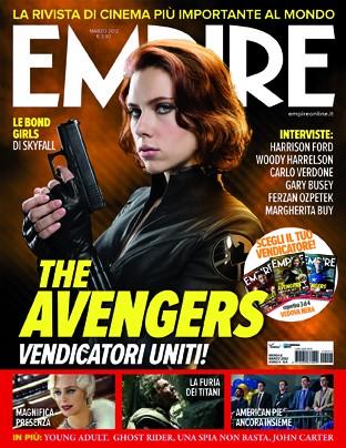 La copertina di Empire Italia dedicata a Black Widow, alias Scarlett Johansson