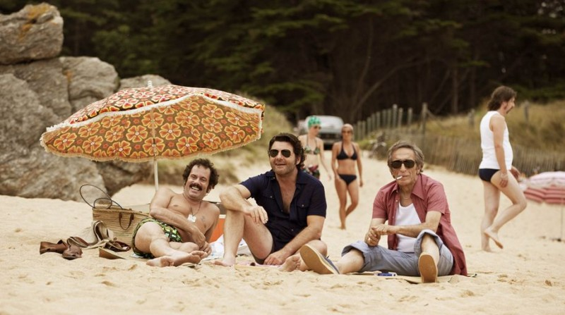 Nos plus belles vacances: Philippe Lellouche con Gérard Darmon, Christian Vadim, Alain Doutey in una scena.