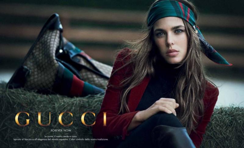 Charlotte Casiraghi per Gucci