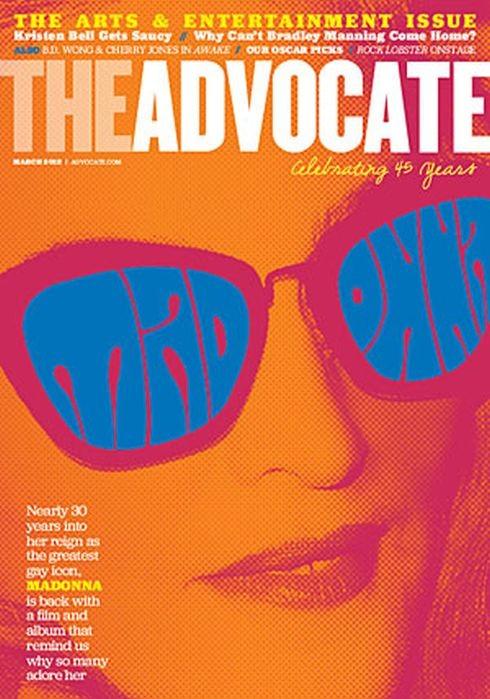 Madonna sulla cover del magazine gay The Advocate