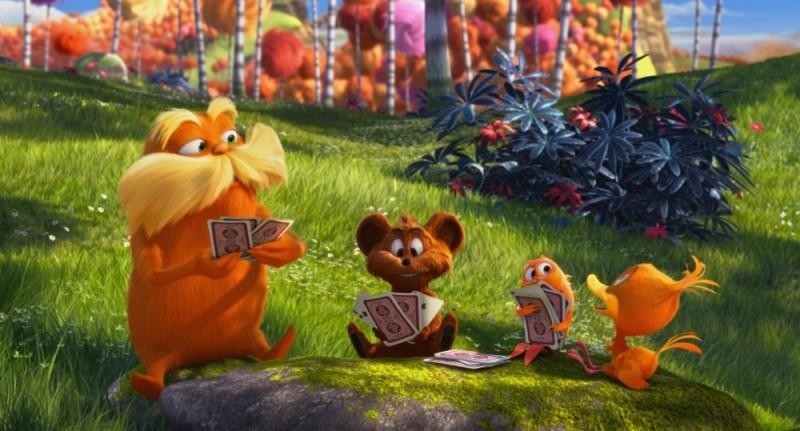 Lorax - Il guardiano della foresta: il Lorax gioca a carte con i suoi piccoli amici della foresta