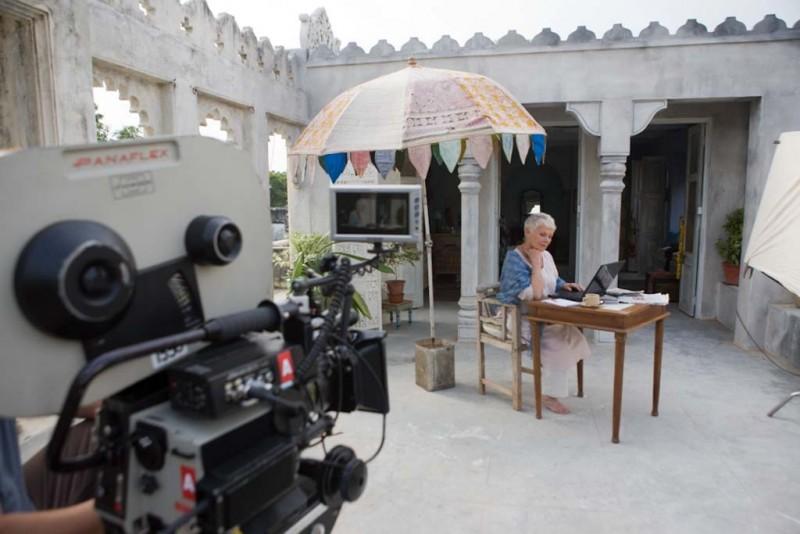 Marigold Hotel: Judi Dench sul set del film