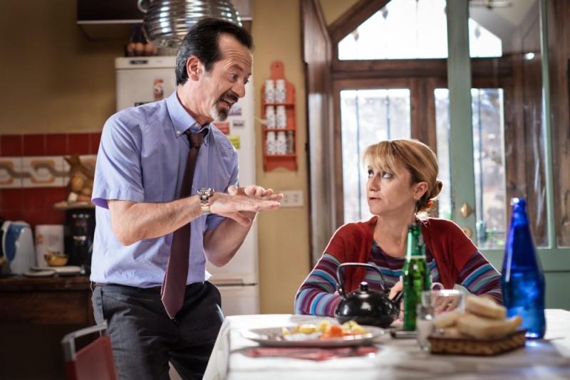 E' nata una star?, Rocco Papaleo insieme a Luciana Littizzetto in una scena del film