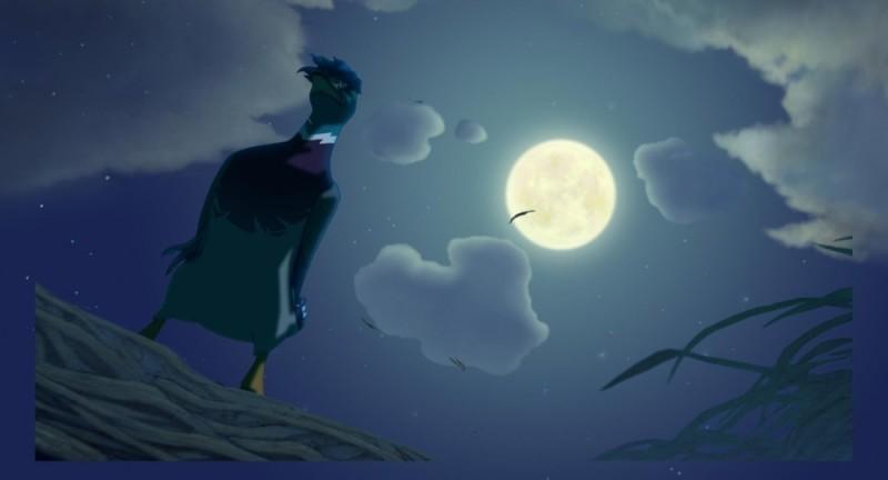 Leafie - La storia di un amore: una bella immagine notturna tratta dal film