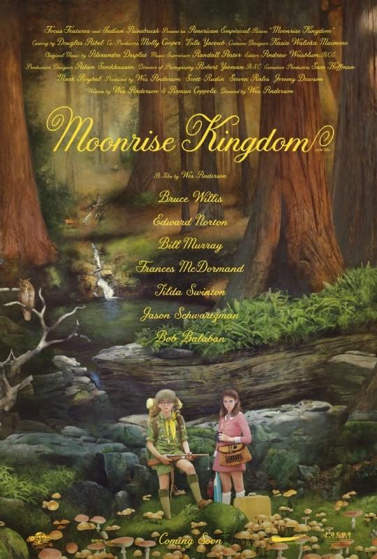 Moonrise Kingdom: locandina in sile fiabesco per il film di Wes Anderson