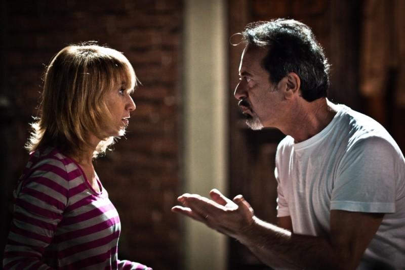 Rocco Papaleo con Luciana Littizzetto in una scena della commedia E' nata una star?