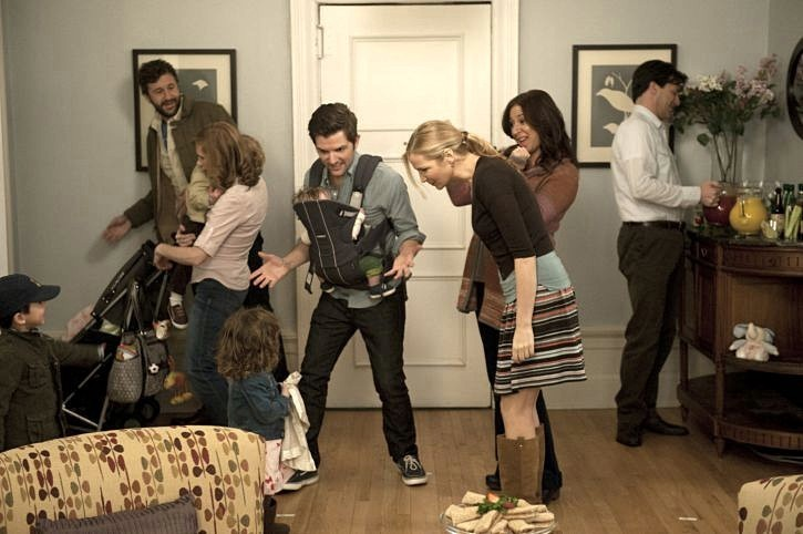 Chris O'Dowd, Maya Rudolph con Adam Scott e Jennifer Westfeld in Friends With Kids