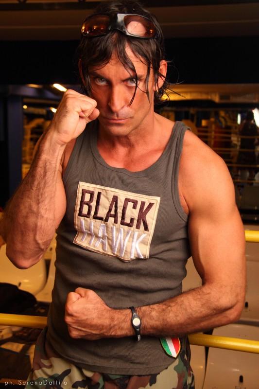 Una foto di Claudio Del Falco sul set