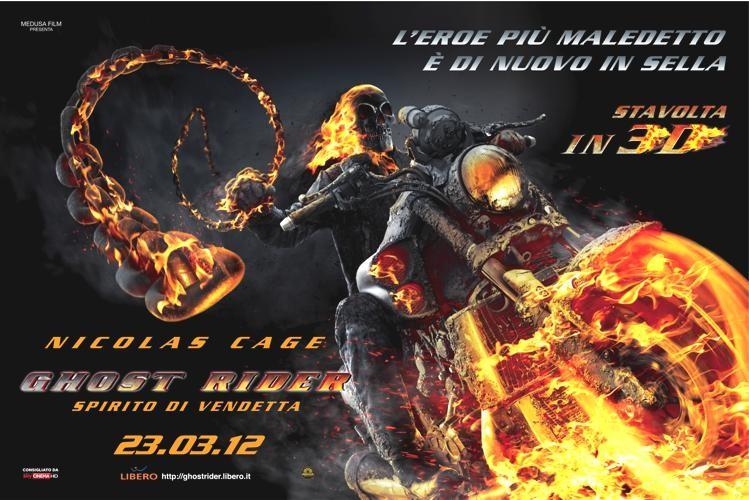 Ghost Rider: Spirito di Vendetta, il poster orizzontale italiano del film