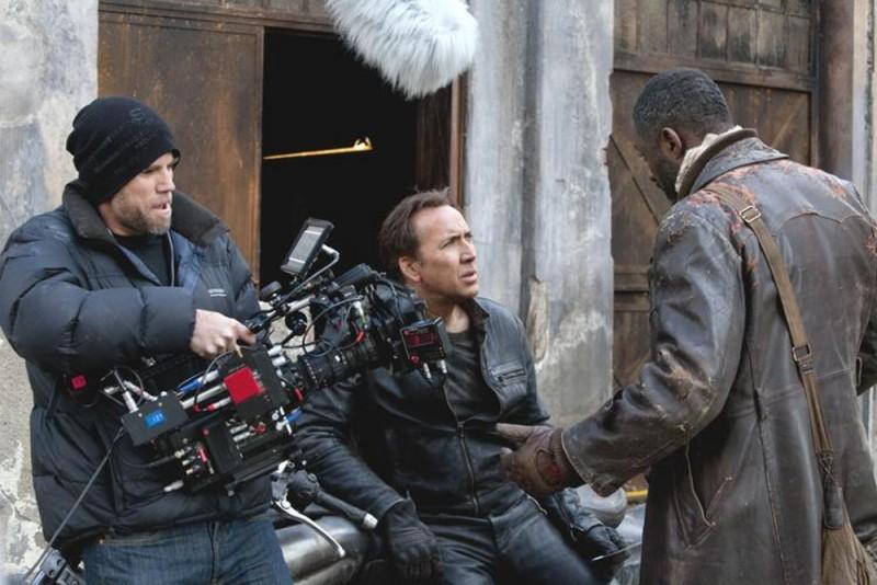 Ghost Rider: Spirito di vendetta, Nicholas Cage e Idris Elba sul set del film