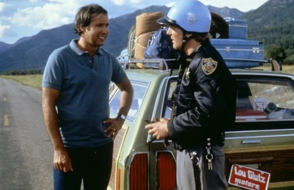 Chevy Chase in National Lampoon's Vacation con James Keach